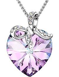 """Sivery """"Regalo del amor"""" hecho con el collar mujer cristalino de las del corazón de los Elementos de Swarovski, joyería para mujeres"""
