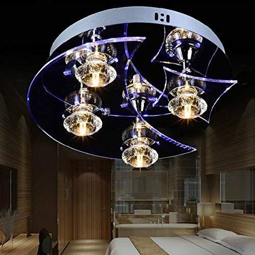AXCJ die Modern-LED Beleuchtung Crystal Flush Mount Deckenleuchte von Fire Hall, Arbeitszimmer, Büro, die Schlafzimmer, Lounge, Innenbeleuchtung (Crystal Flush Mount Beleuchtung)