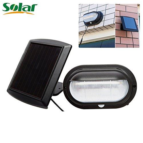 10 LED-Solar-Lampe, superhell, PIR-Bewegungsmelder, wasserfest, solarbetrieben, für Garten und Garage