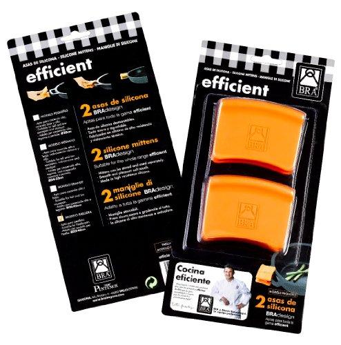 Braisogona 2 Pieces Medium Silicone Grips Blister, 24-32 cm, Orange