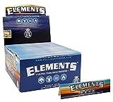Elements, pacchetti di cartine per sigarette in formato king size, ultra sottili, in carta di riso...
