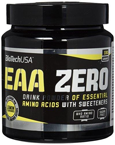 EAA ZERO Zitrone 330 g Dose - Essentielle Aminosäuren getränkepulver ohne Zucker - BiotechUSA