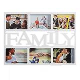 Portafotos family familia familiar. Multiples fotos para colgar en la pared.Ideal para tu casa u hogar. Portafotos múltiple con espacio para 6 fotos de 15 x 10 cm