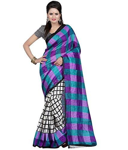 Parvati Fashion Silk Cotton Saree (M375_Multicolor)