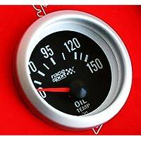 "Sumex Blck528 - Termómetro, Color Negro, Temperatura Aceite,""Race Sport"", Diámetro 52 m, 12V"