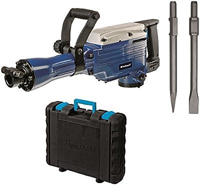 Einhell BT-DH 1600 - Martillo demoledor (1600 W, 230 V, 1500/min¯¹ impactos, potencia del impacto de 43 J, cable de 200 cm, mandril SDS-HEX, peso de 14,7 kg) color azul