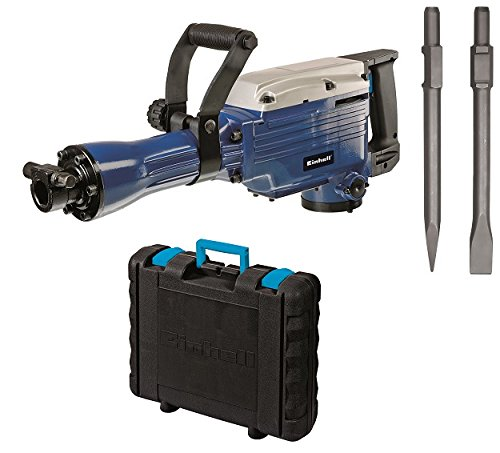 Einhell BT-DH 1600 - Martillo demoledor, cabezal SDS, fuerza de percusión 43 J, cable 200 cm, 1500 rpm, 1600 W, 230 V, color azul