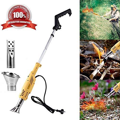 bruciatore diserbante, bruciatore erbacce bruciatore elettrico 2000 watts 3 in 1, 230v fino a 650 ° c, per giardino, patio, stick per diserbo