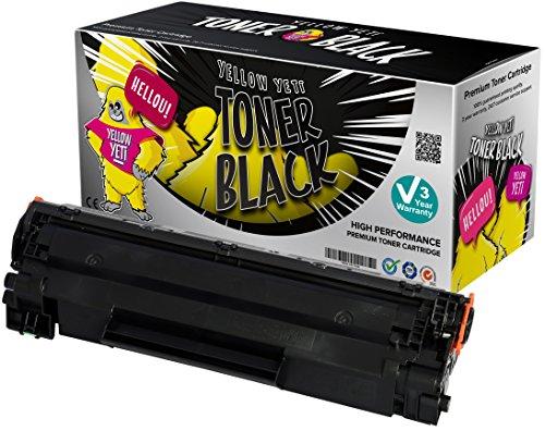 Yellow Yeti CE278A 78A (2.100 Seiten) Premium Toner kompatibel für HP LaserJet Pro M1536 MFP M1536DNF P1560 P1566 P1600 P1606 P1606DN Canon i-SENSYS LBP-6200D [3 Jahre Garantie] (Hp Laserjet P1606dn)