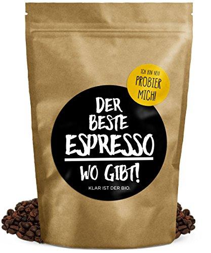 DER BESTE ESPRESSO WO GIBT! - 250g (Bohne) - Premium Bio Espresso - Fairtrade & Organic - Perfekte Crema - vollmundig im Geschmack - FRISCHE RÖSTUNG