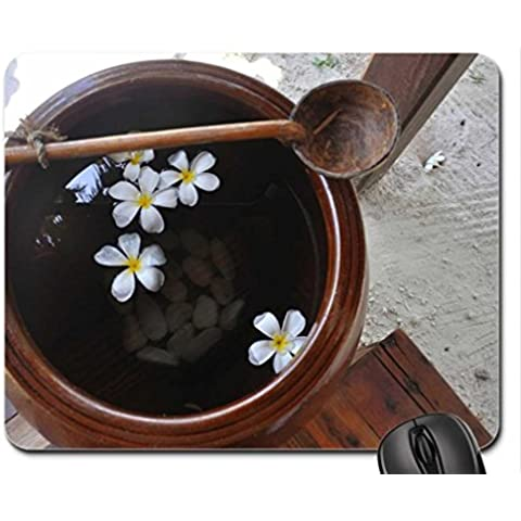 Beach Wash Bowl with Plumeria Flowers Mouse