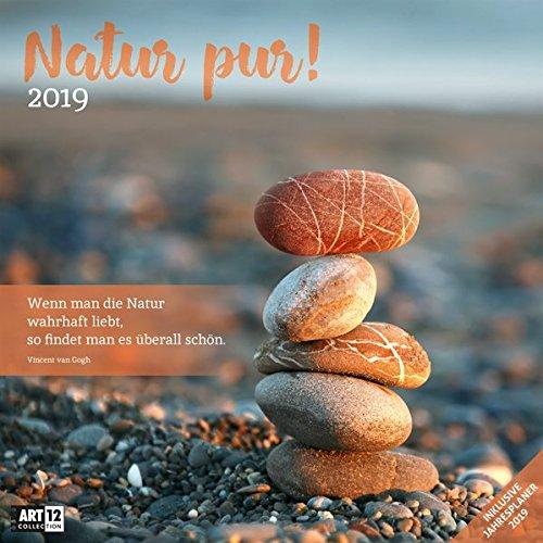 Natur pur! 2019, Wandkalender / Broschürenkalender im Hochformat (aufgeklappt 30x60 cm) - Geschenk-Kalender mit Monatskalendarium zum Eintragen