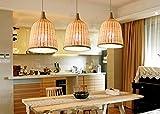 Rattan Kronleuchter,Südostasien Stil Deckenleuchten Rattan Bambus Handgemacht Leuchter Restaurant Pendelleuchte Rattan kunst Kronleuchter Hotel bar Kronleuchter Pendant Hängelampe (30 * 40cm)