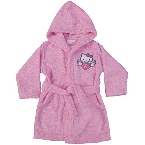 CTI 042729 Hello Kitty Wings Peignoir Coton Bouclette Rose 2/4 Ans
