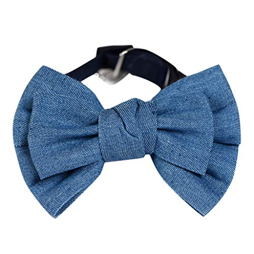 Xshuai Einstellbare Cowboy Dog Fliege Kragen Teddy Bow Pet Schmuck Gentleman Cat Fliege (Blau, S)