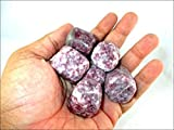 #1: Jet Lepidolite Tumbled Stone 100 grams A++ Approx. 0.75