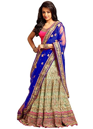 Mashur Fab Women's Silk and Net Lehenga Cholis With Blouse Piece (Multi_Color_Free...