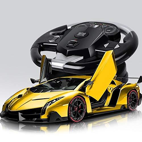YOOCR High Speed   Elektro RC Auto Lade Toy Boy Funkfernsteuerung Drift Racing Kinderspielzeug Auto kann die Tür öffnen Sportwagen Schwerkraft Induktion 1:18 Legierung RC Fahrzeug (Color : A03)
