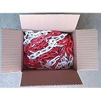 Cadena de plástico rojo y negro 6 mm 12,30 metros
