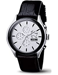 Moschino MW0067 - Reloj de caballero de cuarzo, correa de piel