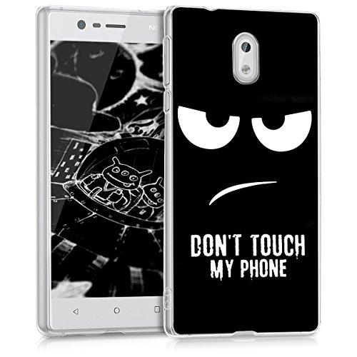 kwmobile Nokia 3 Hülle - Handyhülle für Nokia 3 - Handy Case in Weiß Schwarz