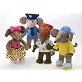 "13.5"" Rastamouse Soft Toys - Set of 4 - Rastamouse, Scratchy, Zoom + Wensly Dale"