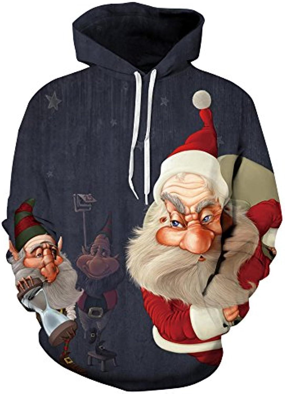 ... Uomini E Donne Felpe 3D Tridimensionali Stampa Loose Pullover Lunga  Natale Maglione Felpa Manica Lunga Pullover 6772aa19f3e
