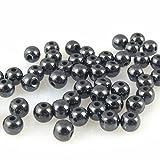 50 Hämatit Perlen Kugeln 4mm Bastelperlen metallgrau zum Auffädeln -124