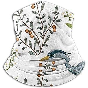 Merle House Heron Vogel Sumpf Pflanzen Tiere Wildlife Nackenwärmer Nackenschutzschlauch Weiche elastische Sturmhaube Halbmaske Unisex Winddicht Ski Nackenschutzhülle