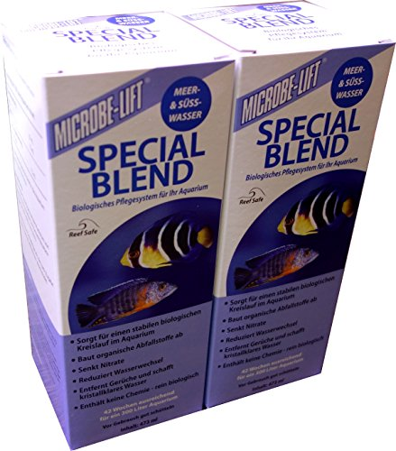 MICROBE-LIFT Special Blend - Wasseraufbereiter für Aquarien, Bakterienpräparat, Meerwasser, Süßwasser (2x 473ml)