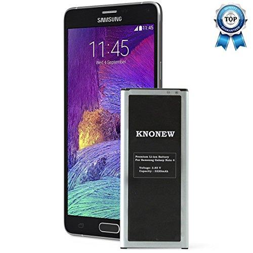 knonew für Samsung Galaxy Note 4Akku Ersatz, N910Akku, n910u 4G LTE, n910V (Verizon), n910t (T-Mobile), n910a (AT & T), n910p (Sprint), 3220mAh Li-Ion Akku mit NFC Kompatibilität