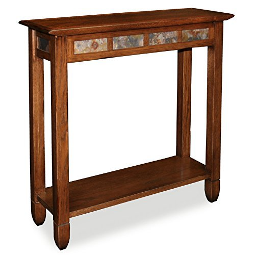 Rustic Slate Hall Stand - Rustic Oak Finish by Leick Furniture -
