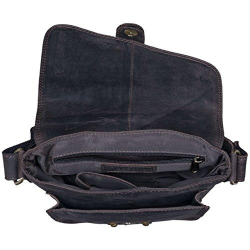 STILORD Mattia Borsa a tracolla Uomo Vintage Design Messenger Bag classico in vera pelle antico, Colore:marrone medio marrone scuro