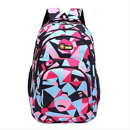 GLQA Schultasche Junior Rucksack Mädchen Grundschule Kinder Pack Hochwertige Hochleistungs-Schultaschen Für Kinder JungenRosa