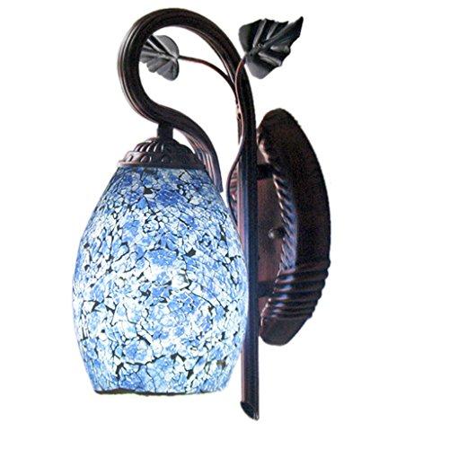 ZHIXUAN - stile cinese retrò illuminazione semplice corridoio luci luci scale corridoio bedroom bedside applique porcellana blu e bianche