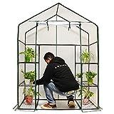 Quictent Gewächshaus Mini Begehbares 3Stufe 6Einlegeböden 102lbs Max Gewicht Kapazität tragbar Kunststoff Garten Outdoor Grün Haus 142,2x 73,7x 195,6cm