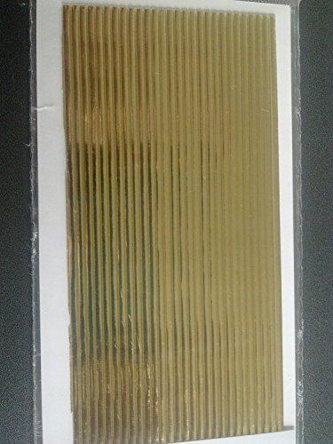 bastelkoerble Verzierwachs - Wachsstreifen flach in Gold 29 Stück - 200 x 2mm.