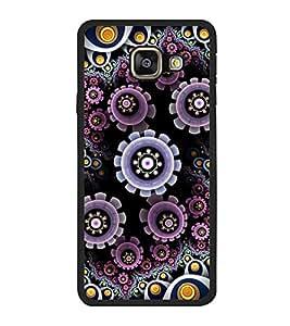 Fuson Designer Back Case Cover for Samsung Galaxy A3 (6) 2016 :: Samsung Galaxy A3 2016 Duos :: Samsung Galaxy A3 2016 A310F A310M A310Y :: Samsung Galaxy A3 A310 2016 Edition (artwork frame round circle eyes flowers)
