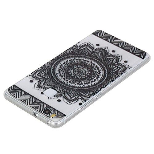 Qiaogle Téléphone Coque - Soft TPU Silicone Housse Coque Etui Case Cover pour Apple iPhone 5 / 5G / 5S / 5SE (4.0 Pouce) - HX39 / Couple mouse HX23 / Noir dentelle une fleur