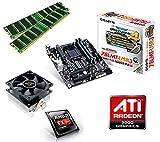 One PC Aufrüstkit | AMD FX-Series Bulldozer FX-4300, 4x 3.80GHz | montiertes Aufrüstset | Mainboard: Gigabyte GA-78LMT-USB3 | 16 GB RAM (2 x 8192 MB DDR3 Speicher 1600 MHz) | CPU Mainboard Bundle | Grafik: ATI Radeon HD 3000 | komplett fertig montiert!
