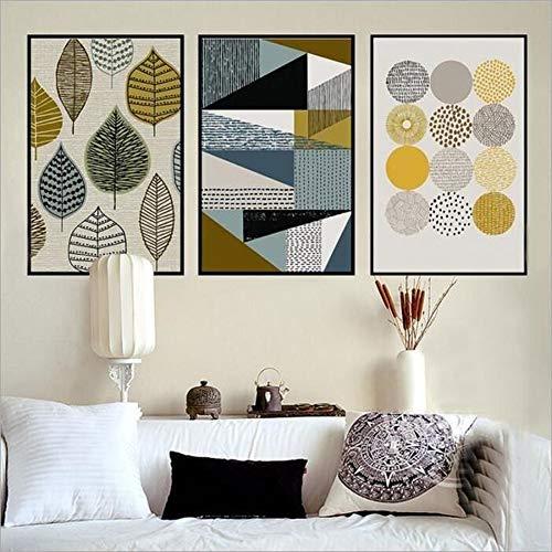 Patrón geométrico estilo nórdico Impreso lienzo
