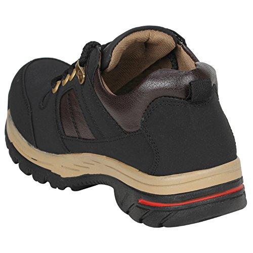 Kraasa 4155 Trekking and Hiking Footwear for Men Black UK 10