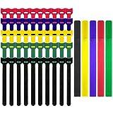 CKANDAY 55 Pack wiederverwendbare Befestigung Kabel und Gurte Krawatten Set, 5,91