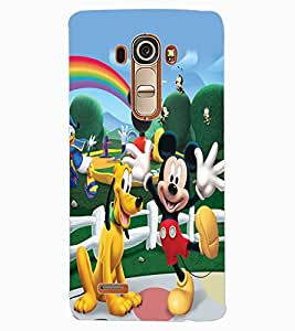 ColourCraft Lovely Cartoon Characters Design Back Case Cover for LG G4