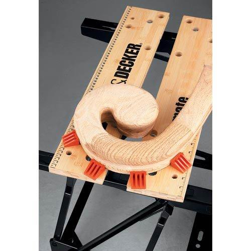 Black+Decker flexible Werkbank WM536 mit großer Arbeitsfläche / Höhenverstellbar und einfach handzuhaben / Bis 160 kg belastbar / Maße (Arbeitsfläche): 25,0 x 61,0 cm - 5