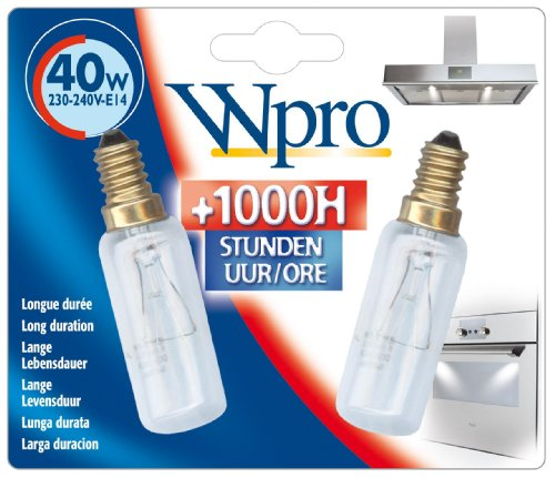 Whirlpool Wpro Cooker Hood Lamp Bulb, 40 W, Pack of 2
