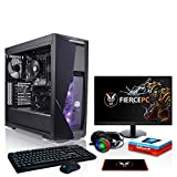 Fierce Renegade High-End Gaming PC - 4.5GHz Octa-Core AMD Ryzen 7 3800X, 512GB M.2 SSD, 16GB, NVIDIA GeForce RTX 2080 Ti 11GB, Win 10, Tastiera (QWERTY), Mouse, 24-Pollici Monitor, Headset 1137117