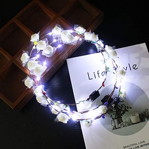 Jiay Hawaii Lichterkette, für Damen, Mädchen, LED-Leuchte, Schaumstoff, Blume, für Party, Hochzeit, Blinker, Girlande G