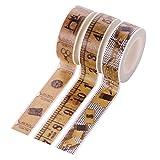 Homyl 3 Rollen Retro Stil Washi Tape Masking Tape Deko Klebeband Buntes Klebebänder DIY Scrapbook Deko