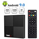 Android 9.0 TV Box Sidiwen T95 Mini Android Box 2GB RAM 16GB ROM H6 Quadcore Cortex-A53 Smart TV Box USB 3.0 2.4GHz WiFi 3D 6K Streaming Media Player